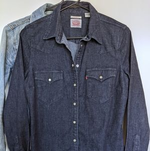 Levi's Tailored Fit Western, Rinse Blue, S